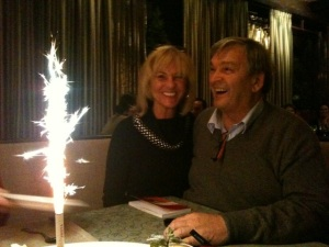 das Ehepaar De Carli beim Feiern
