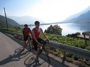 Biken am Kalterer See
