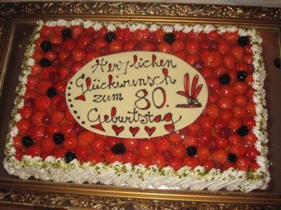 Geburtstagstorte zum 80.