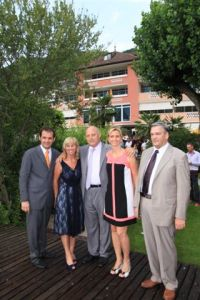Luis Durnwalder mit Familie De Carli