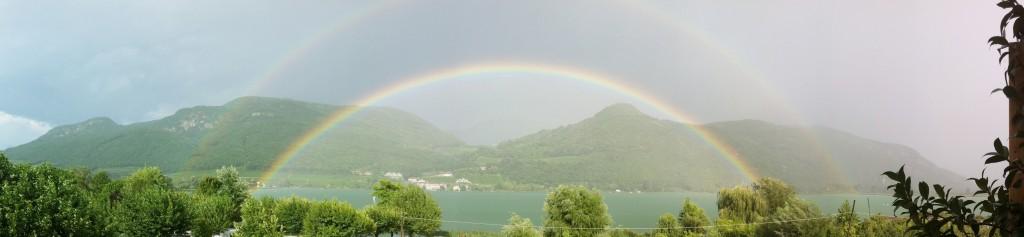 Regenbogen am Kalterer See