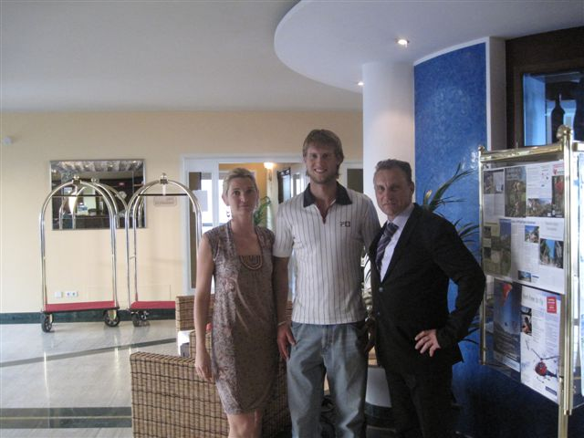 Andreas Seppi genießt entspannte Momente im Parc Hotel am See