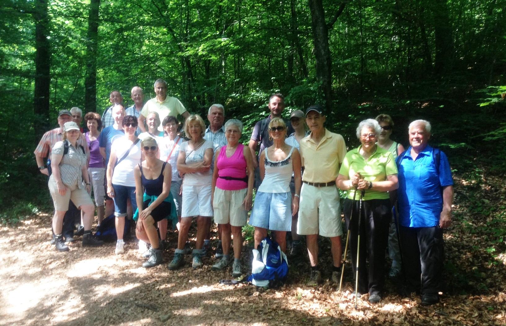 Unsere Wanderfreunde im Altenburger Wald