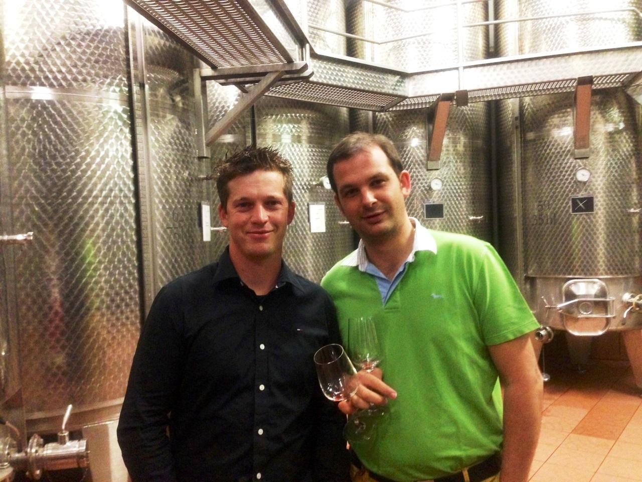 Im Weingut J. Hofstätter - noch fit