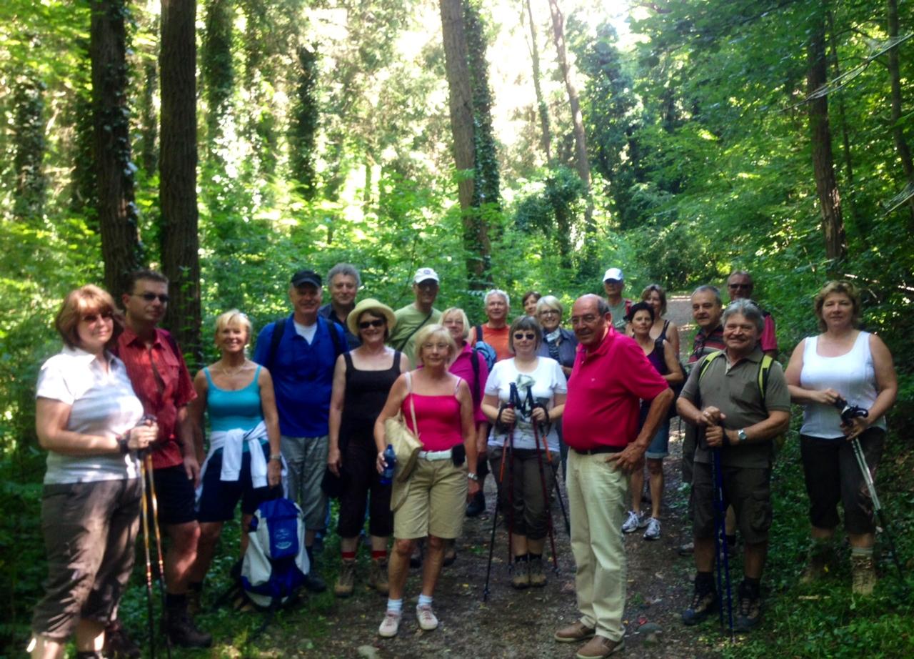 Im Wald um den Montiggler See mit einer Uferlinie von 2 km...