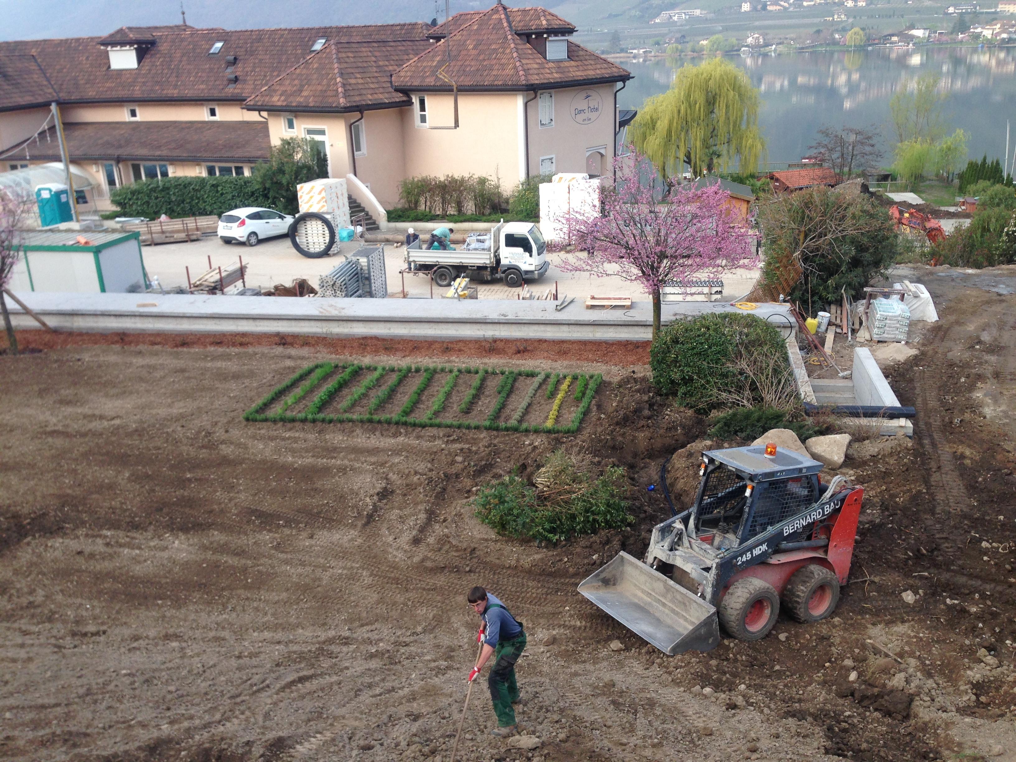 Und hier der neue Kräutergarten von Küchenchef Otmar
