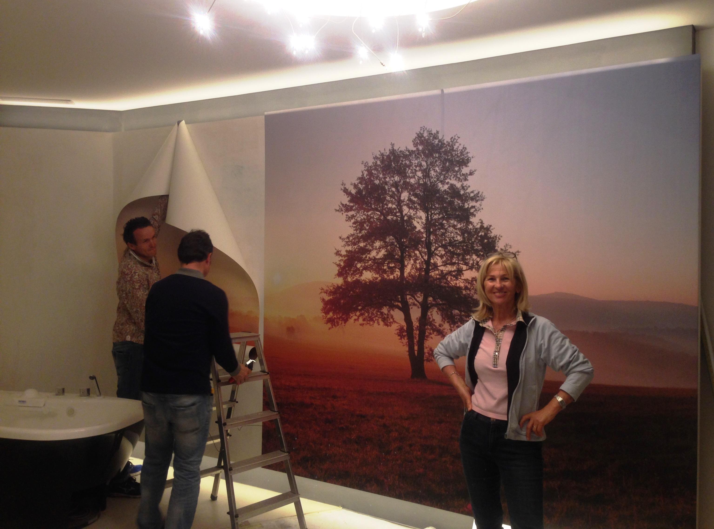 Das Panoramabild zum Träumen  mit Afrika-Feeling wurde heute fertig montiert... Frau De Carli ist immer vor Ort!